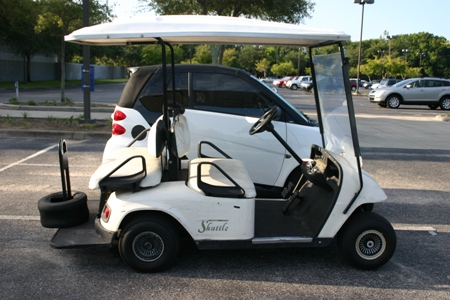 Smart Car w/Golf Cart Pictures – Crash Test Video