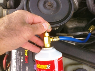 When Adding Freon To Car Hold Can Upright
