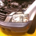 CRV in the shop