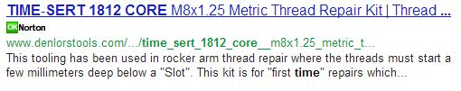 GM 2.8, 3.1 & 3.4 Stripped Threads – TIME-SERT 1812CORE