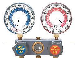 Gauge readings indicate possible expansion valve issue.