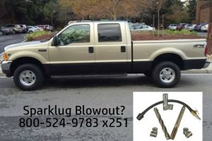 Ford sparkplug blowout