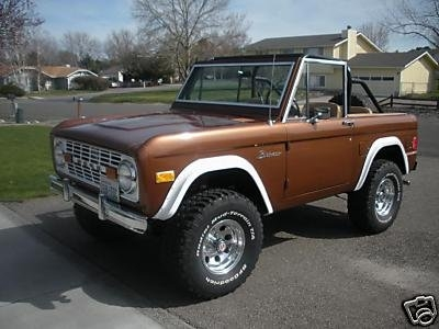 Early Broncos have a clean design that is lost in more modern trucks.