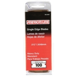 American Line ASR 66-0448 Razor Blades #12 Single Edge Clamshell 100 CT image