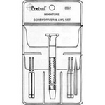 Image Central Tools 6551 6 Piece Minature Screwdriver Set with Awl