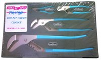 Channellock PC-1 4 Piece Tongue and Groove Pit Crews Choice Pliers Set image