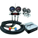 Image CPS MAID8QZ BlackMax Collector's Chrome Manifold Gauge Set