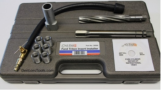 CalVan Tools 38900 Ford Spark Plug Thread Repair Kit 6-Inserts image