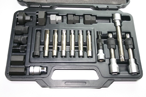 Cal Van 750 Alternator Pulley Tool Kit 22 Pieces for Decouplers image