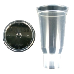 ITW Devilbiss DPC-503-K24 3 Oz. Disposable Cup & Lid (Qty 24) image