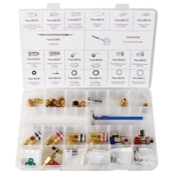 FJC, Inc. 6075 41 Piece R134a Manifold Coupler and Fitting Assortment image