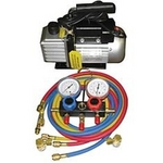 Image FJC, Inc. KIT6 Vacuum Pump and Manifold Gauge Set