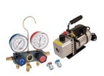 Image FJC KIT6M Vacuum Pump and Gauge Set