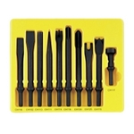Image Grey Pneumatic CS110 10PC General Service Chisel Set .401 Shank