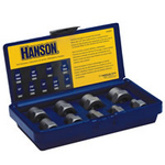 Image Hanson 54009 9 pc. Extractor Set with 3/8 Drive, 1/4 to 3/4