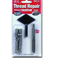 HeliCoil HEL5521-6 Thread Repair Kit for 3/8-16 x .562 Length - 12 Inserts image