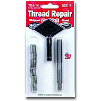 HeliCoil HEL5521-7 Thread Repair Kit for 7/16-14 x .656 Length - 6 Inserts image