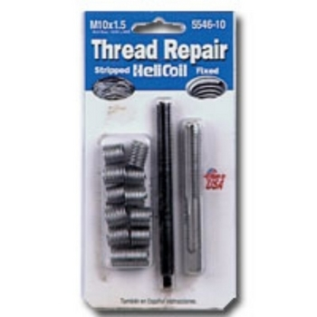 HeliCoil HEL5546-10 Thread Repair Metric Kit for M10x1.5 - 12 Inserts image
