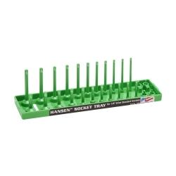 "Hansen Global 1403 1/4"" DR SAE Regular & Deep Socket Holder - Green image"