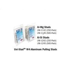 H And S Auto Shot UNI-1242 M4 Aluminum Pulling Studs Al-Si 250-Pack image