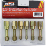 Image Kastar Hand Tools KAS 2588 6 Pc. Metric Thread Restorer Tap Set