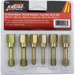Image Kastar Hand Tools KAS 2588 6 Pc. Metric Thread Restorer Tap Set
