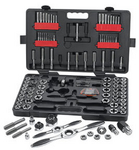 Image KD Tools 82812 Large SAE/Metric Ratcheting Tap and Die Set 114 pc