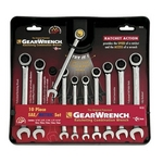 Image KD Tools 9418 SAE/Metric Combination GearWrench Set 10 Pc.