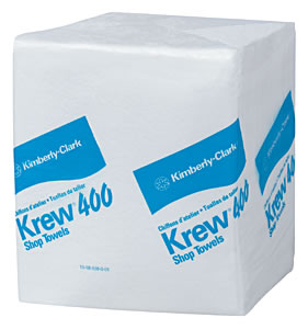 Kimberly-Clark KIM33036 White KREW 400 Shop Towels image