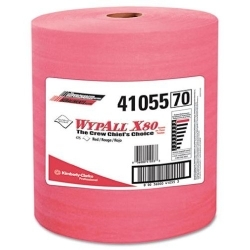 Kimberly Clark 41055 WYPALL X80 SHOPPRO TOWELS ORANGE 475 ROLL image