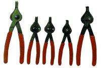K Tool International KTI-55001 Snap Ring Pliers Set Reversible 5 Piece image