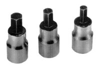 Lisle LIS12550 Brake Caliper Hex Socket Set for Servicing Disc Brakes - 3 Pc. image