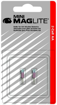 Mag-Lite MAGLM2A001 Replacement Mini-Mag® AA Bulbs - 2 Pack image