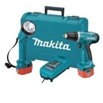 "Image Makita 12V 3/8"" Cordless Driver/Drill with Flashlight Kit MAK 6271DWPLE"