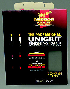 Meguiars MEGS2025 Unigrit Finishing Paper - 2000-Grit; 25 Sheets image