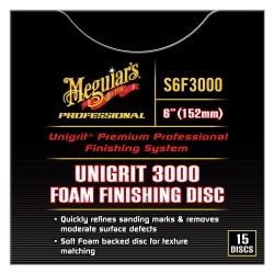 "Meguiars S6F3000 Unigrit 6"" P3000 Foam Finishing Disc - 15 pack image"