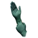 Image Micro Flex DFK-608-S Dura Flock 8 mil Flock-lined Green Nitrile Glove