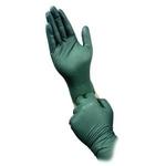 Image Micro Flex DFK-608-S Dura Flock 8 mil Flock-lined Green Nitrile Glove