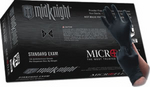 Image Microflex MFXMK296M Midnight Black Nitrile Gloves, M - 10 Boxes, 100 Per Box