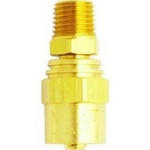 Image Milton Industries 621-11 MALE 11/16 inch HOSE OD, 3/8 inch HOSE ID, 1/4 inch NPT