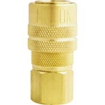 Image Milton Industries 715 1/4 inch Brass Coupler Female Body M Style