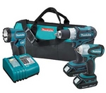 Image Makita 18V Lithium-Ion LXT Combo Kit, Impact Wrench, Driver Drill MAK LXT311H