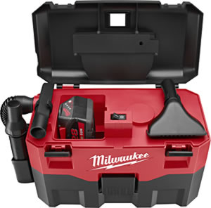 Milwaukee 18V Cordless Wet/Dry Vacuum - Works with Any MLW 18V Slide-On Battery image