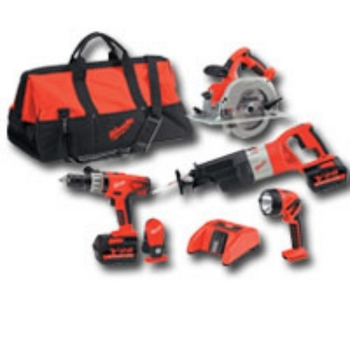 Milwaukee Electric Tools 0928-29 V28 4 PACK COMBO TOOL KIT, 28 VOLT image