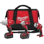 Image Milwaukee Electric Tool MLW2696-23 18V M18 3Pc. Cordless Impact Wrench Combo Kit