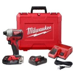 """Milwaukee Electric Tools 2850-22CT Milwaukee M18 Compact Brushless 1/4"""" Hex image"""