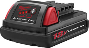 Milwaukee MLW48-11-1815  18 Volt Lithium Ion Battery Pack image