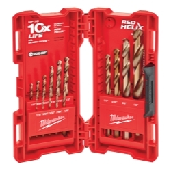 Milwaukee Electric Tools 48-89-2331 15 Piece Cobalt RED HELIX Drill Bit Kit image