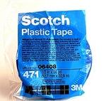 Image 3M 06408 Plastic Tape 471, Blue, 1/2