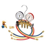 Image Mastercool 66773 Dual R-12 and R-134A Brass Manifold Gauge Set 72